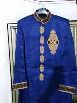 Sherwani with kullah khussa in very neat and clean condition