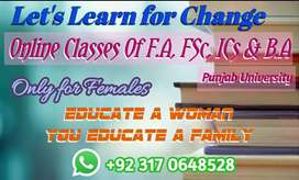 Online tutor for F.A & B.A