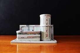 Kotak Pensil Lintingan Koran