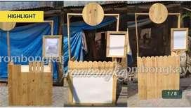 Rombong booth kayu dll