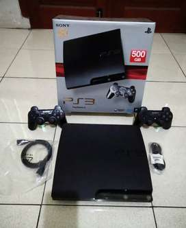 PS3 SLIM 500GB mantao Fullset (2 Stik Full 50 game) siap gadang