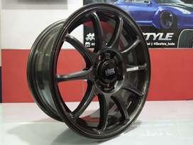 Velg Mobil HSR INDY BOROKO Ring 15 Lebar 6.5 Baut 4 For Agya Avanza