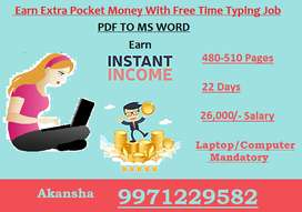 100% Salary Timely -- (PDF to MS WORD) Typing Work Apply Now