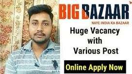Bigbazaar process hiring for BPO/Data Entry/ CCE /Hindi Telecaller/KPO