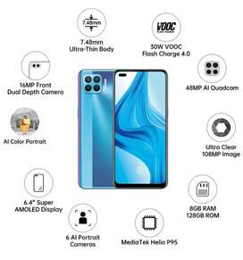 Brand New Oppo F17 Pro (8Gb-128Gb) Just 10 days softly used.