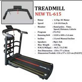 Elektrik Treadmil 3 in 1 / Total Fitnes