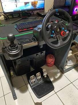 Logitech G29 Steering wheel + shifter | Fullset | Garansi Panjang