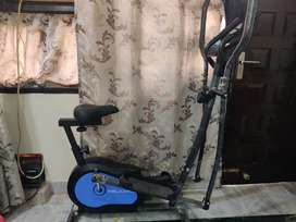 Cross trainer with static cycle