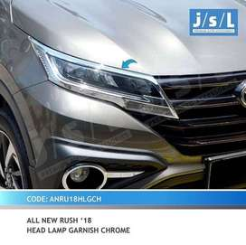 Garnish chrome list lampu depan headlamp all new RUSH TERIOS 2018