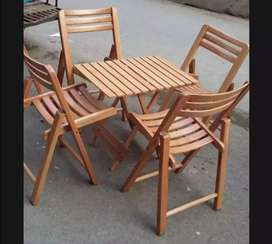 Wooden Folding Chair Table Set Brand new