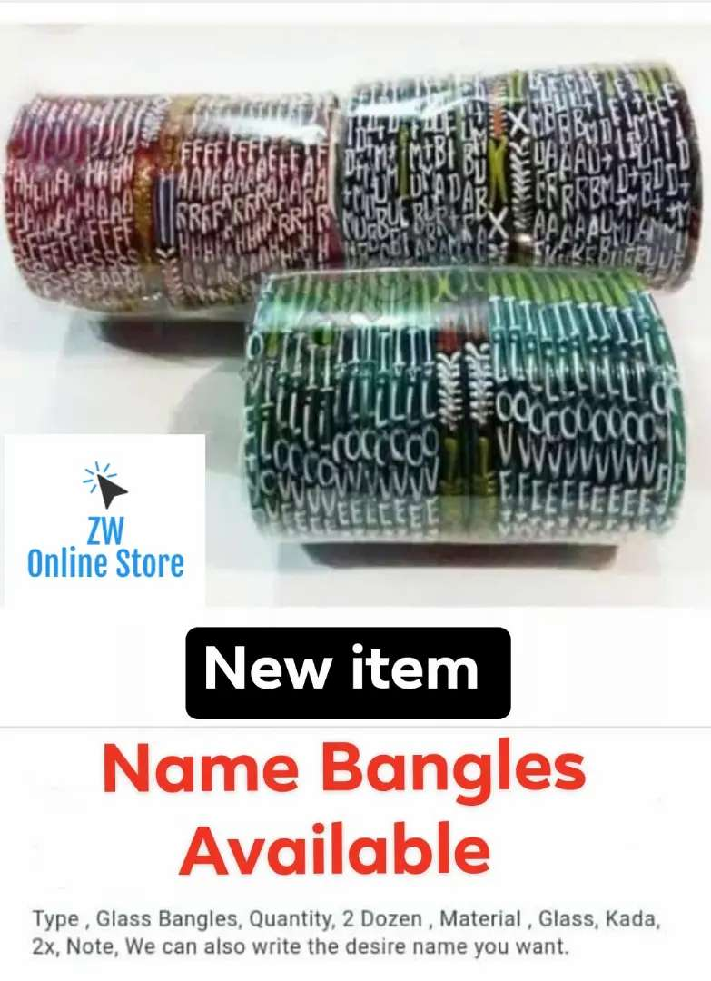 Eid Special Gift Name Glass Bangles 24 Bangles And 2 Karay In Set