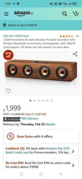 Brand New I gear bluetooth speaker