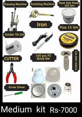 Led bulb making tools