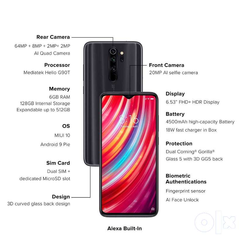 Redmi Note 8 Pro with Smooth gaming experience with powerful with warr 0