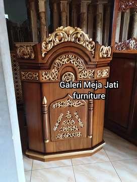Mimbar masjid E201 kualitas kayu jati