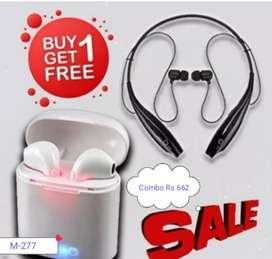 Bluetooth headset Free shipping +COD