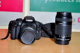 Canon EOS 700D For Sale with Dual lens.