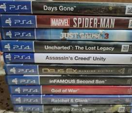 PS4 Games in mint condition