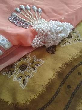Heavy siffon saree