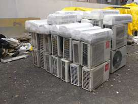 White Split Type Air Conditioner And Air Condenser.