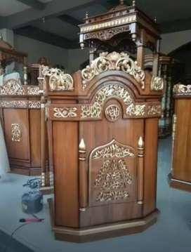 Mimbar podium kayu jati readi siap kirim pm01.