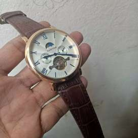 Cartier automatic turbilion watch moon phase