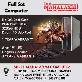 Full Set Branded Computer Just 11,000/- Rs. // LED 3 Years Warranty