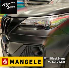 Mangele stiker mobil bandung premium wrapping Sticker wrap Doff hitam