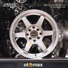 Velg Mobil SSW S205 Ring 15 Hyper Silver