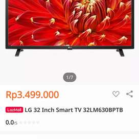 SMART TV LED DIGITAL TV LG 32 INCH MODEL:32LM630BPTB CUMA 2,3JUTA