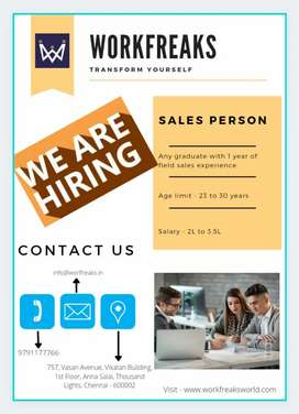 Experienced Sales Person required