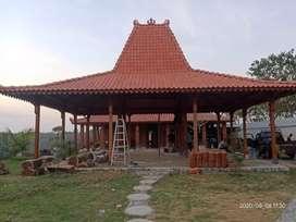 Pendopo Joglo Kayu Jati Tumpangsari Ukiran cocok untuk Balai Desa