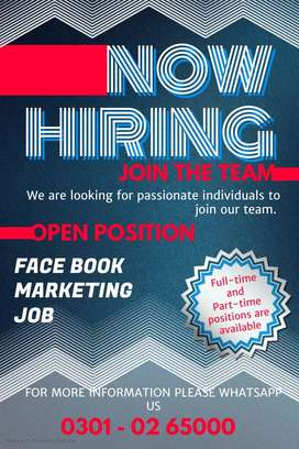 We need talented students for face book marketing work