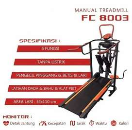 Treadmill manual 6fungsi oranye