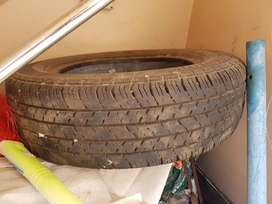 Used Santro xing Branded tubeless tyre for sale.