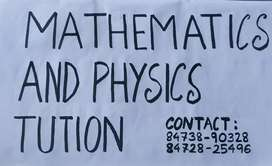 Maths and physics tution classes