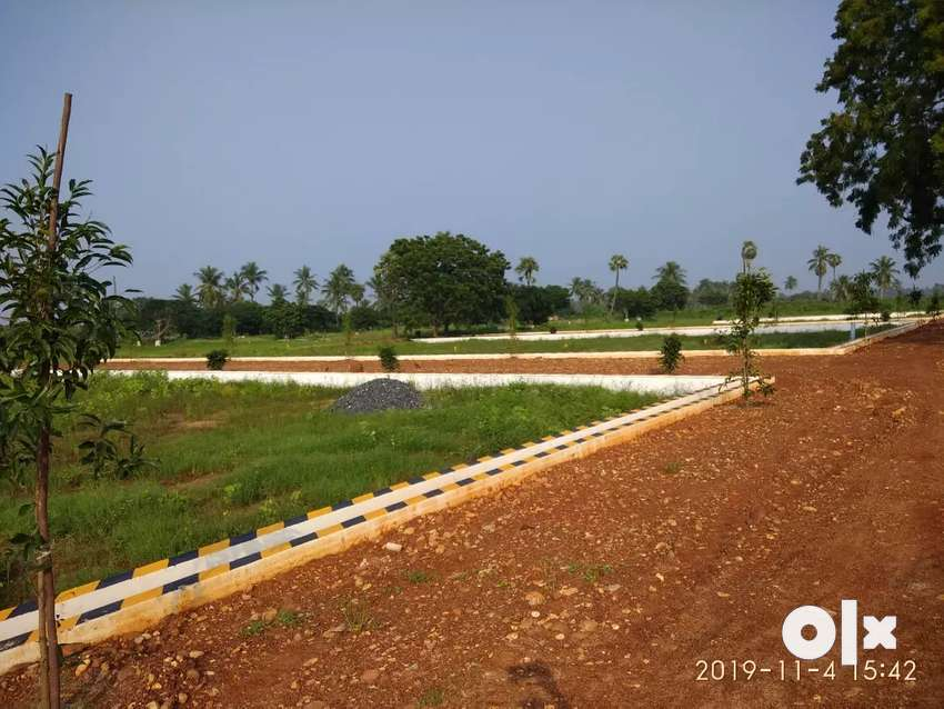 Plot for sale 6km from atamakur Bus stand ready to construct mypadu r 0