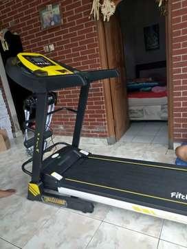 Treadmill elektrik lengkap yellow sport