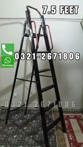 HOUSE USED SEERI  A TYPE  GHORI  FOLDABLE  7.5 FEET LADDER