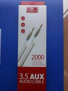 Kabel aux spring earldom audio stereo 2m jack 3.5mm