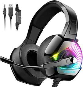 ONIKUMA Gaming Headset for PS4 with 7.1 Surround Sound & RGB LED Light