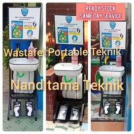Wastafel portable injak (tnpa sentuh tangan,portabel)