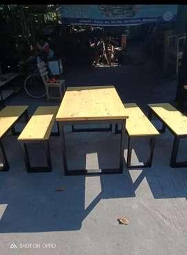 Meja kursi set untuk usaha kuliner