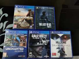 6 GAMES OF PS 4