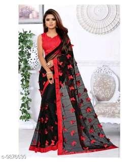 Women net saree ( chod available)