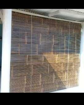 Jual tirai bambu item