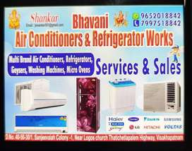 Ac,fridge repairs and services ac installation at ur door step service
