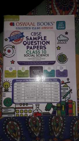 Oswal book cbse sample question paper class 10 social science 2021