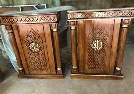 mimbar masjid kayu jati pintu samping