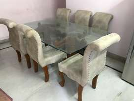 6 seater antique Dining table